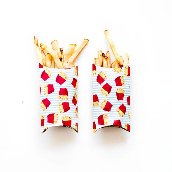 Use Martha Stewart's Gift Box Makers to Make DIY French Fry Holders  #12MonthsofMartha