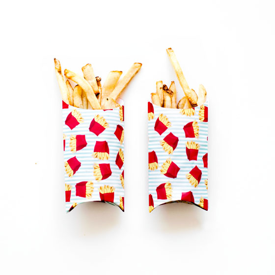 Use Martha Stewart's Gift Box Makers to Make DIY French Fry Holders  #12MonthsofMartha