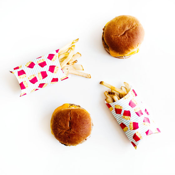 Use Martha Stewart's Gift Box Tool to make DIY French Fry Holders #12MonthsofMartha