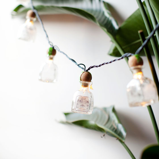 DIY Patrón Mini Bottle Cantina Lights  via Melodrama #ArtofPatron