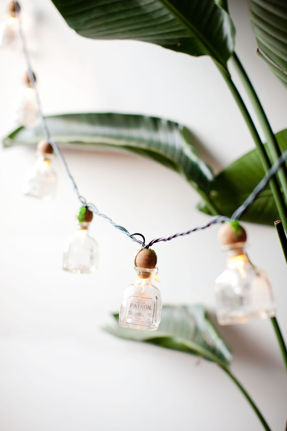 DIY Patrón Bottle Cantina String Lights via Melodrama #ArtofPatron