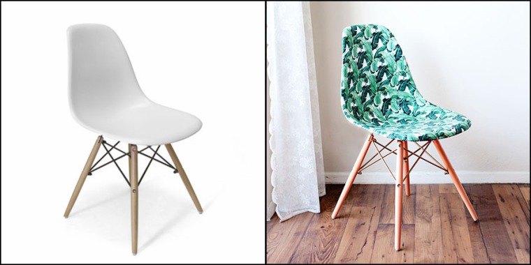 Decoupage Banana Leaf Chair via Melodrama