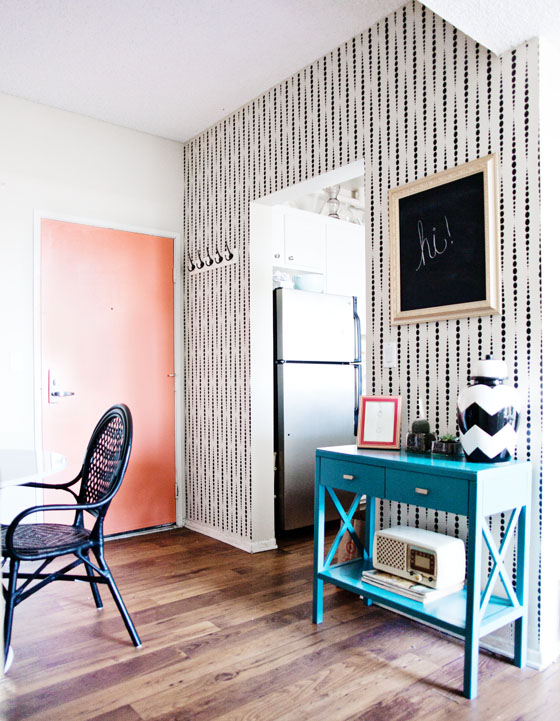 Mid-century inspired stenciled wall via Melodrama