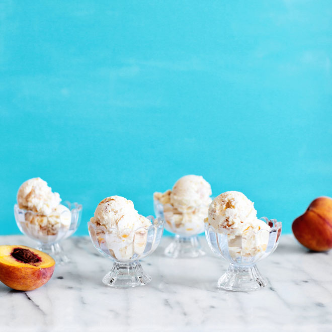 Peach Pie Ice Cream Recipe via Melodrama