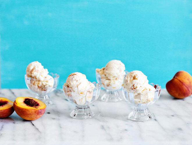 Peach Pie Ice Cream Recipe via Melodrama
