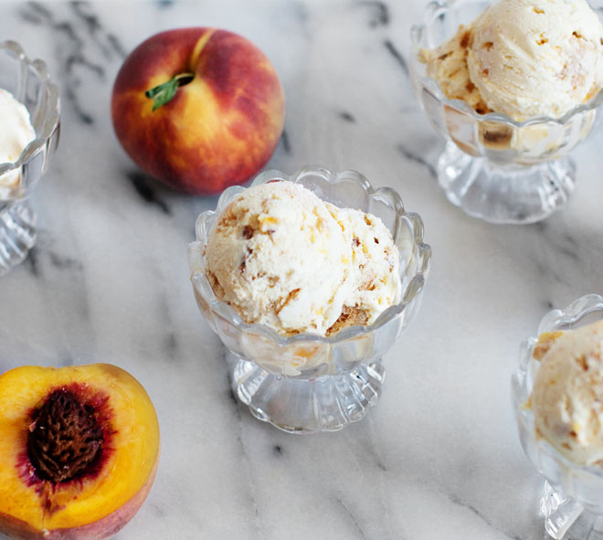 Peach Pie Ice Cream Recipe via Melodama