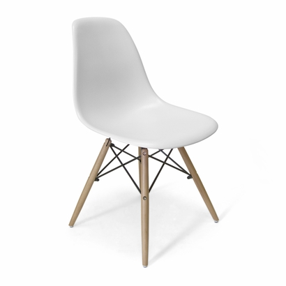 White molded chair from INMOD