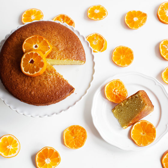 Tangerine Olive Oil Cake Recipe via Melodrama