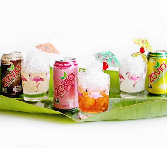 Zevia Granita Cocktails via Melodrama
