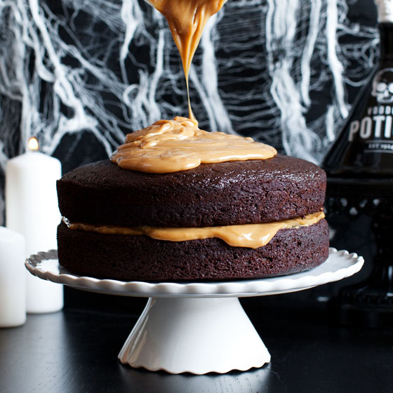 Devil's Booze Cake Recipe via Melodrama