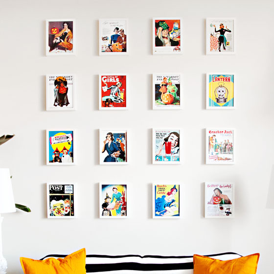 Halloween Gallery Wall via Melodrama