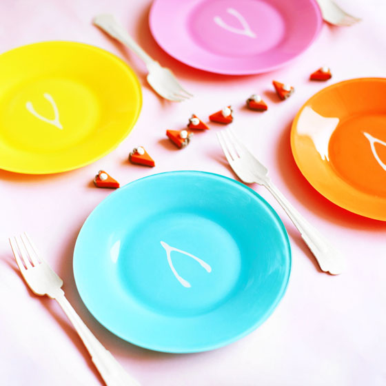 DIY Thanksgiving Wish Bone Plates #12monthsofmartha