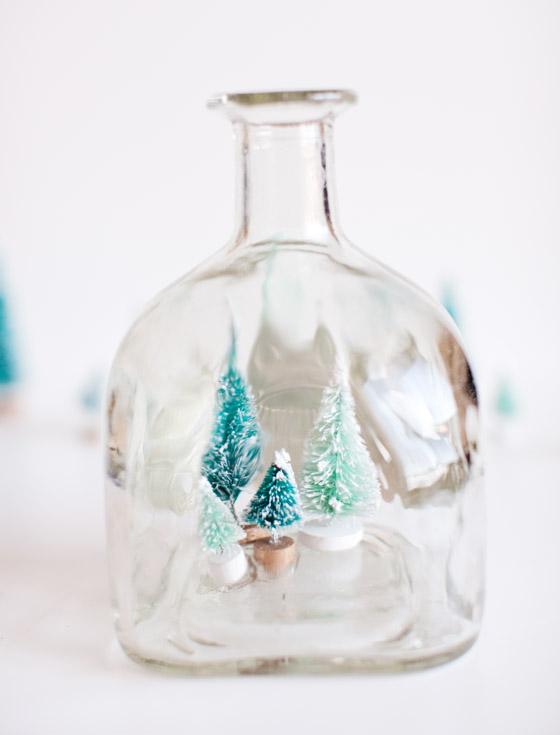 DIY Patron Bottle Snow Globe