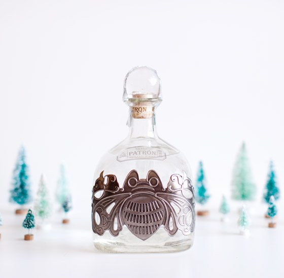 Patron Bottle Snow Globe