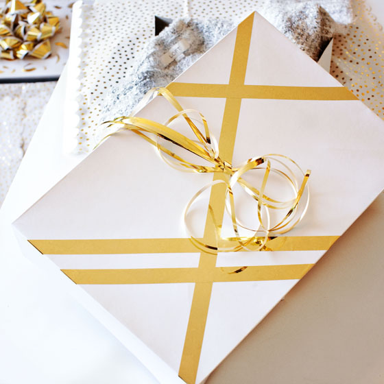DIY Gold Accented Gift Boxes