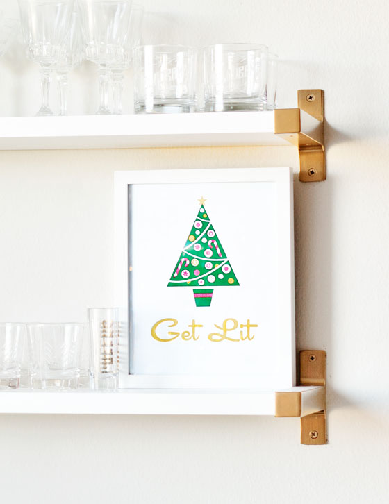 Printable Christmas Themed Bar Print