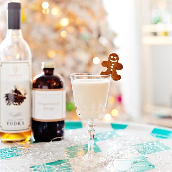 Gingerbread White Russian Cocktail