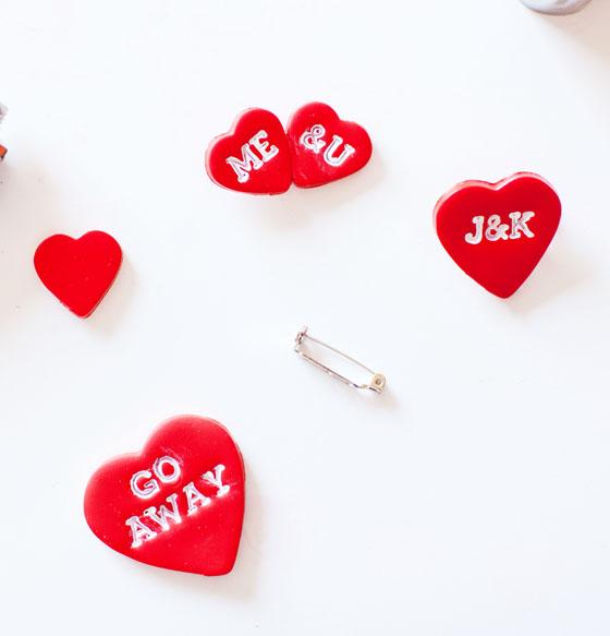 DIY Valentine Pins