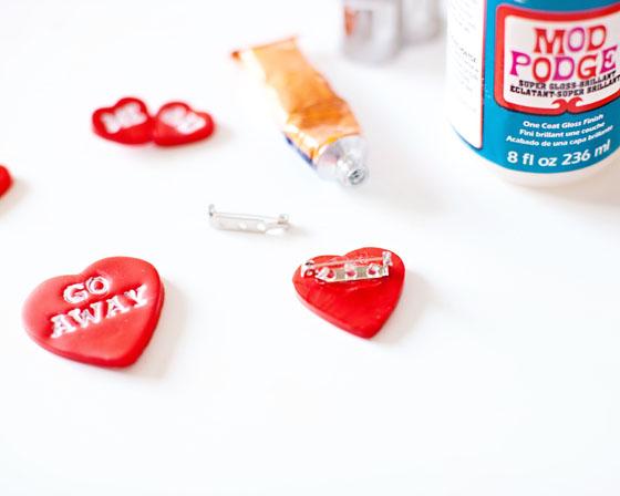 DIY Valentine Pins 4