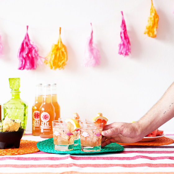 IZZE® Friendsday Night Part and Cocktail Ideas