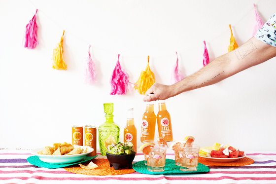 IZZE® Friendsday Night Party and Cocktail Ideas