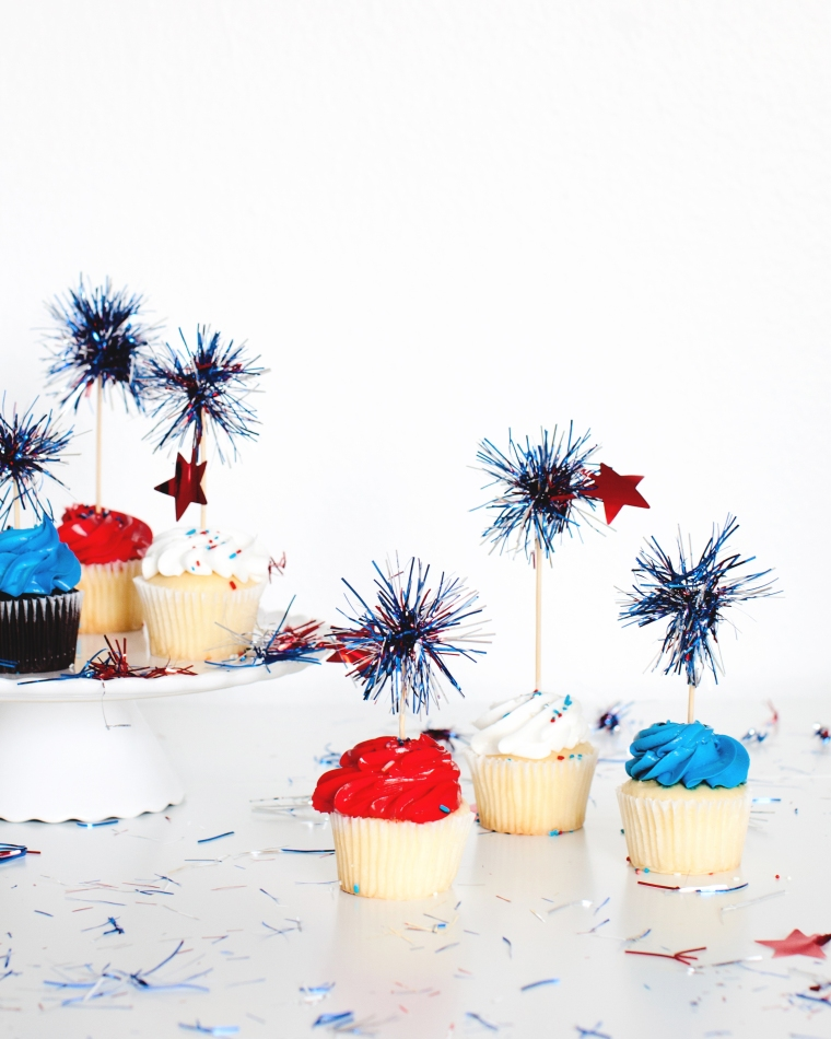 DIY 4th of July Cupcake Toppers