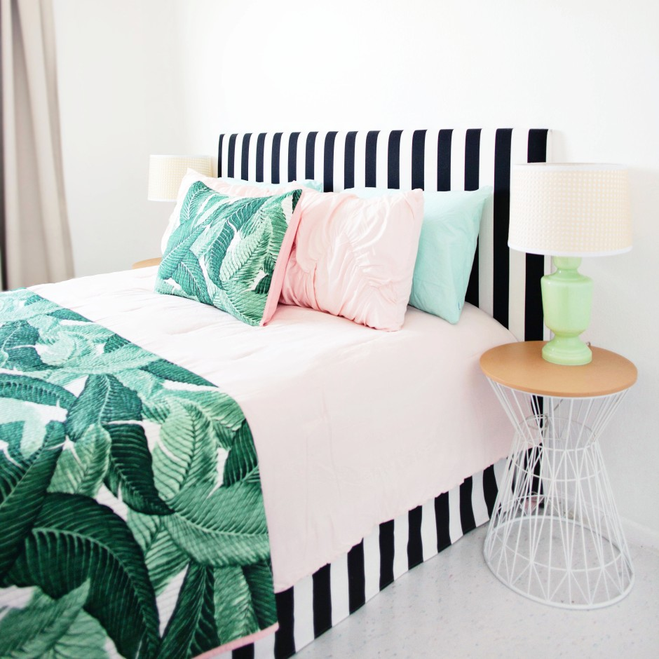 DIY Bed Skirt and Headboard