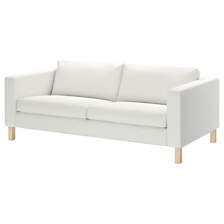 Ikea hack karlstad pink mid century inspired sofa for White divan chair