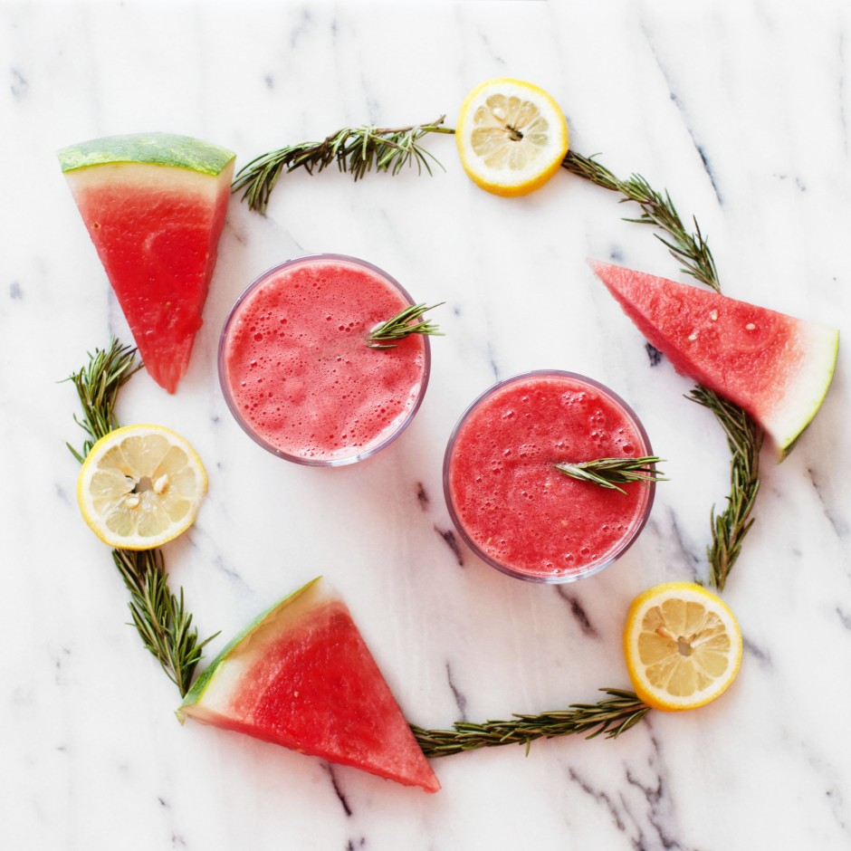 Watermelon Rosemary Agua Fresca