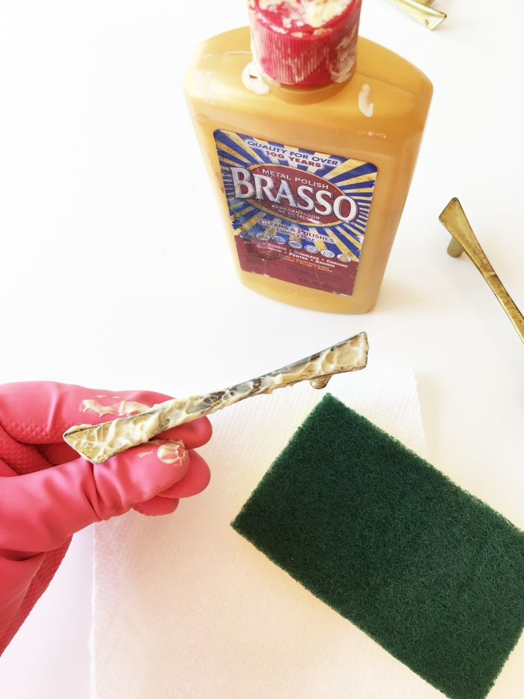 How to Restore Vintage Brass Drawer Pulls