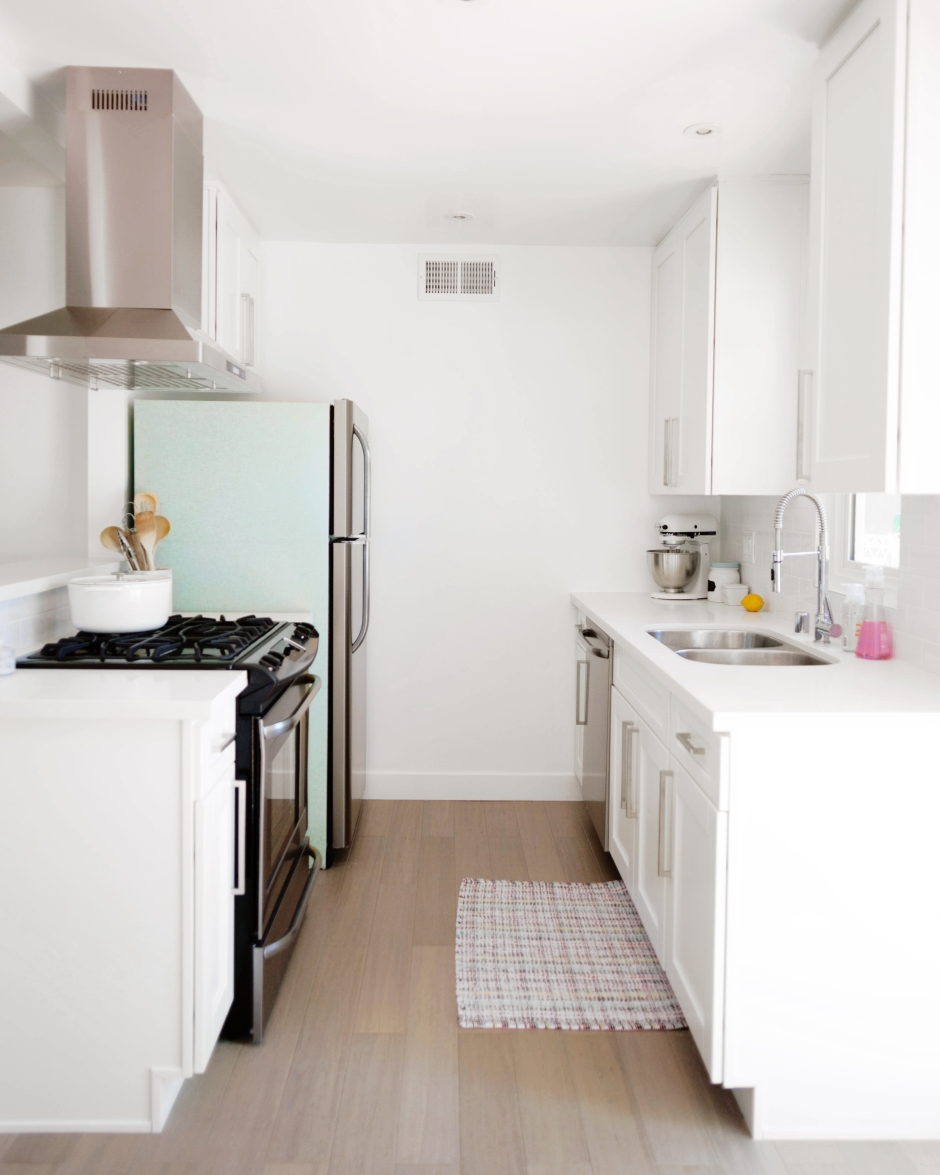 Mid Century Inspired Refrigerator Makeover With Peel Stick