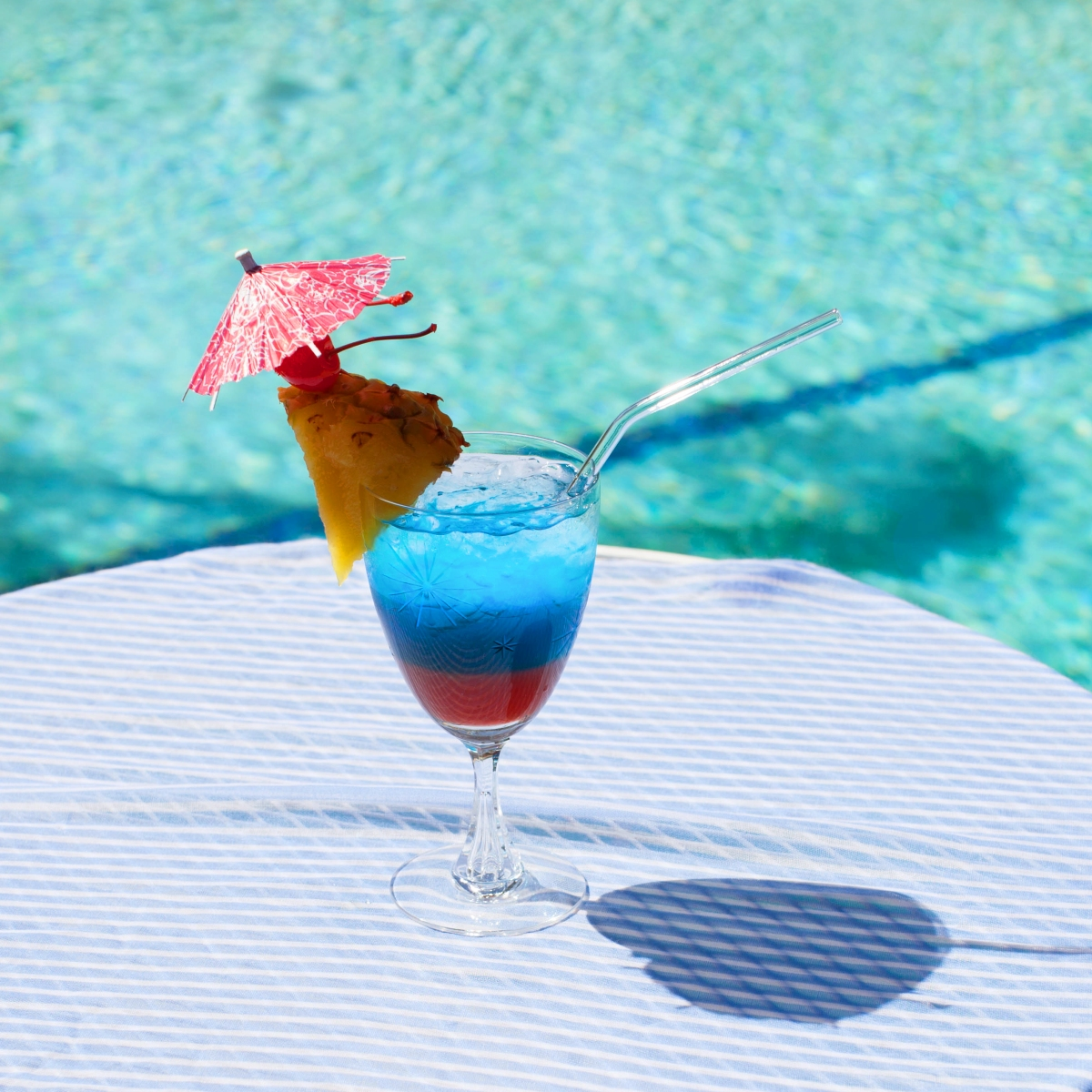 4th Of July Red White And Blue Tropical Rum Cocktail