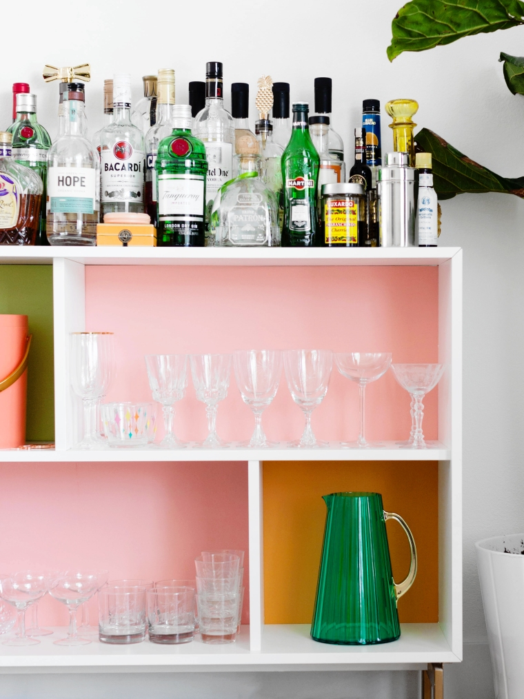 Colorful VALJE IKEA Hack DIY Bar Case