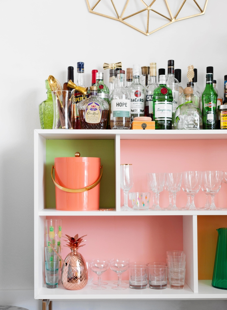 Colorful VALJE IKEA Hack DIY Bar