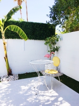 Faux Boxwood Hedge DIY Patio Makeover