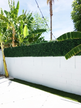 Faux Boxwood Hedging DIY