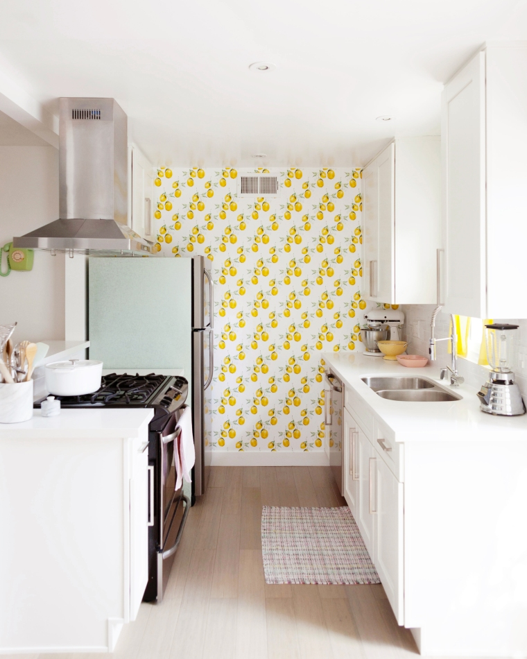 Lemon Kitchen Wallpaper