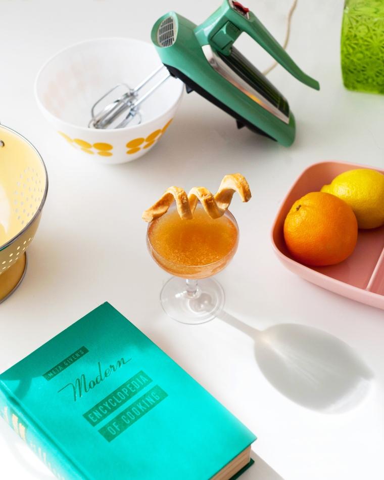 Apple Pie Cocktail Recipe - Rum, Apple Brandy, Vermouth, Grenadine, and Lemon Juice