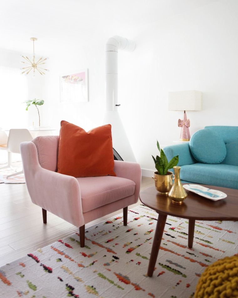Blush Pink Velvet Chair from Article