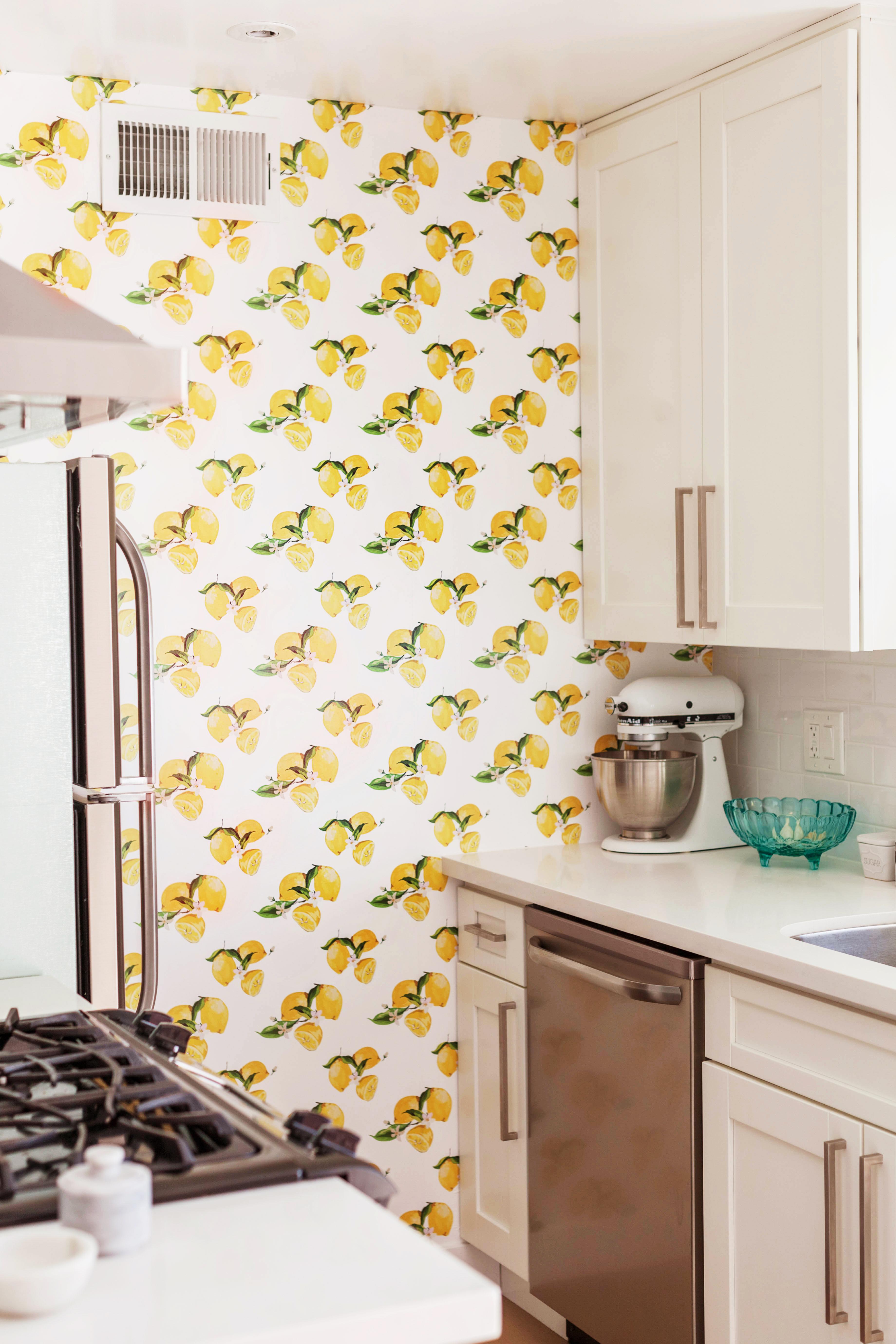 Custom Lemon Kitchen Wallpaper