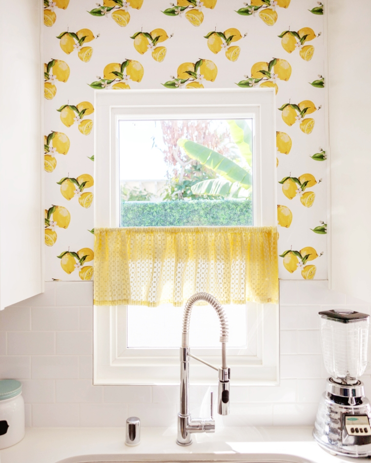 Melodrama's Vintage Inspired Custom Printed Lemon Wallpaper from Tempaper.jpg