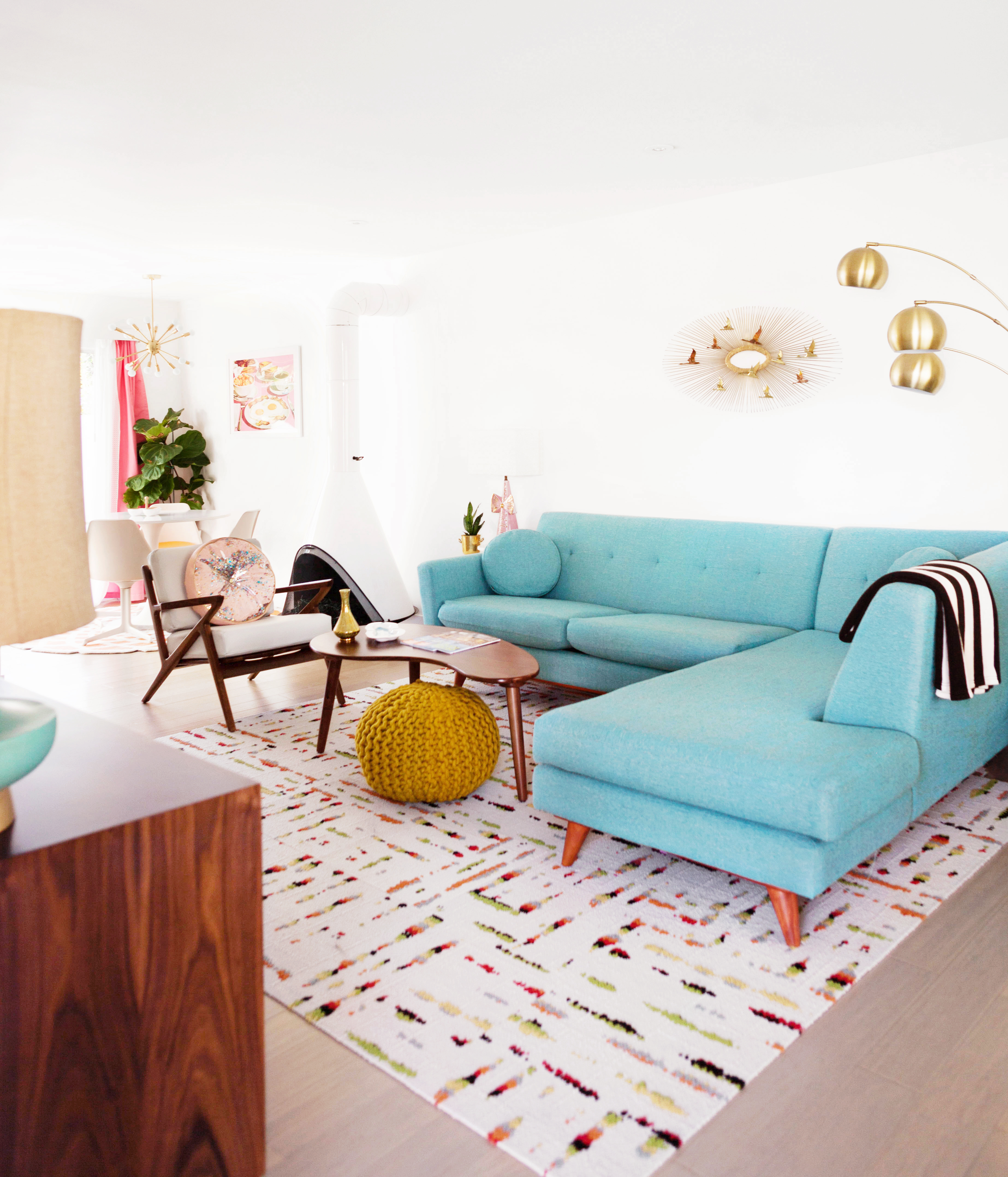 Our MidCentury Inspired Palm Springs Living Room Tour Melodrama