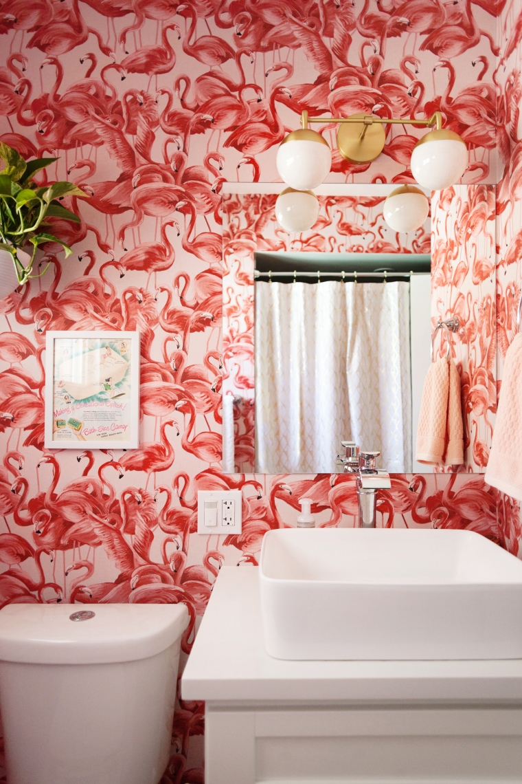 Flamingo Mid-Century Bathroom