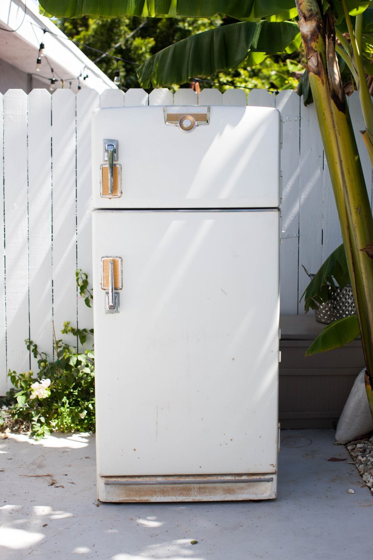 1950s GE refrigerator Refurb before