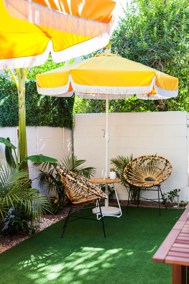 Mid Century Tropical Inspired Patio