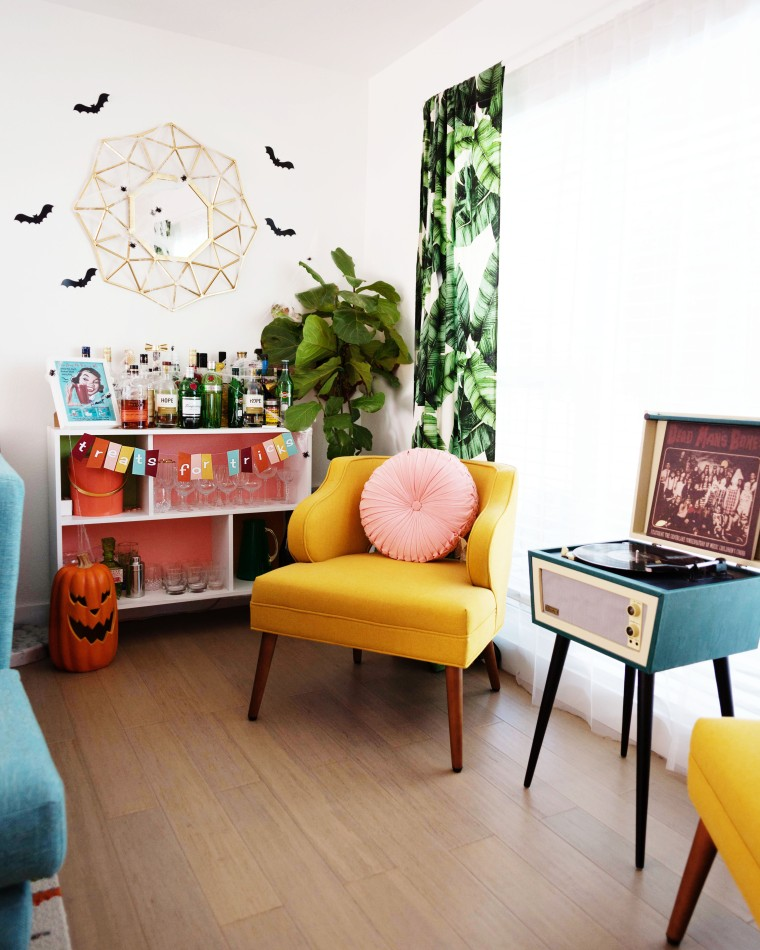 Mid-century Home Halloween Bar