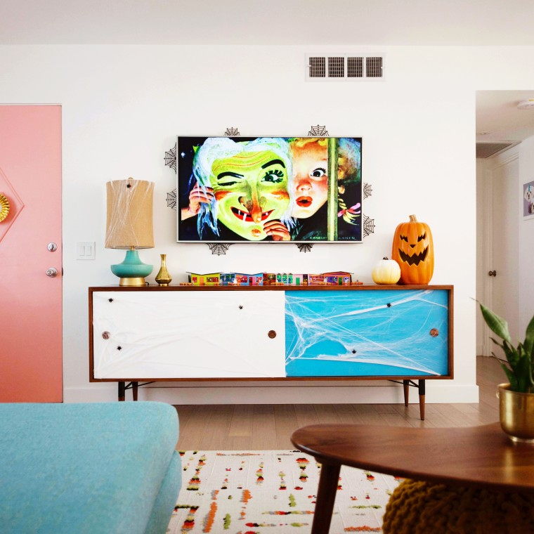 Mid-Century Modern Halloween Putz Houses