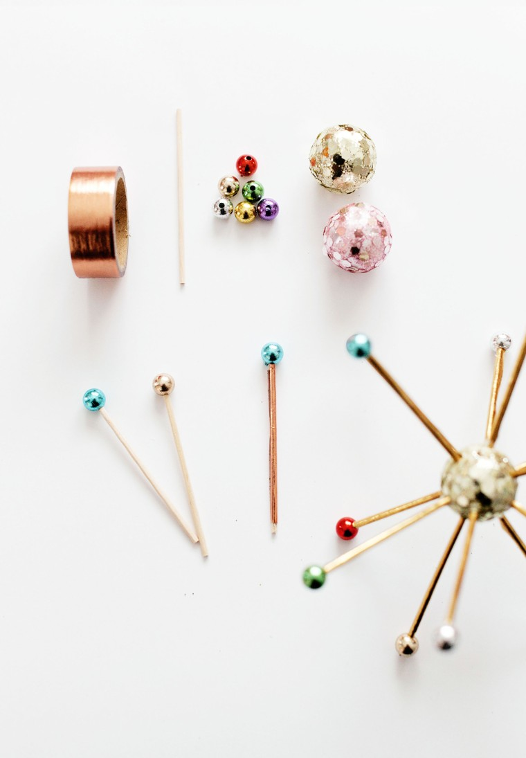 DIY Sputnik ornaments